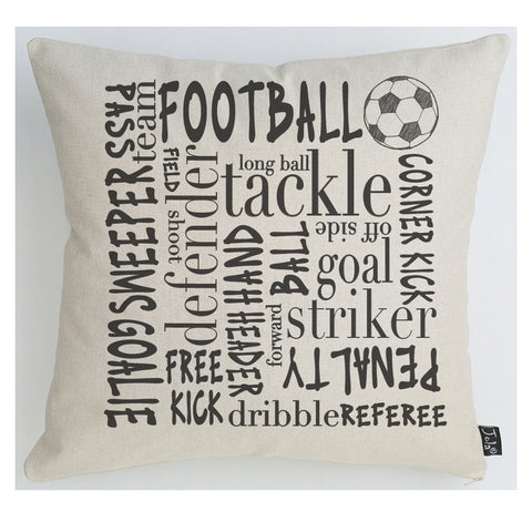 Football Typography cushion