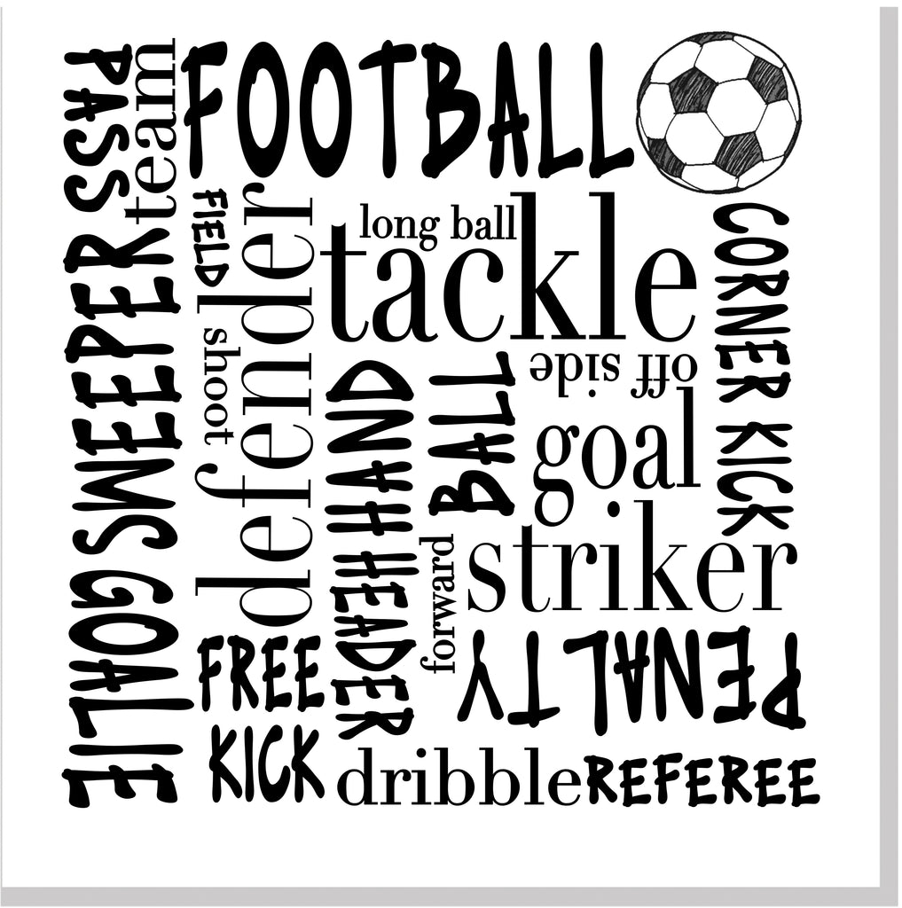 Football Typography square card