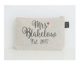 Personalised Foxwells Mrs make up bag small