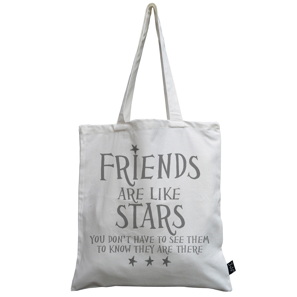 Friends are like Stars canvas bag