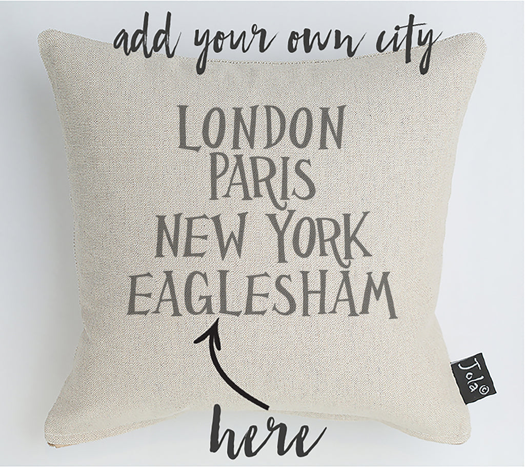Personalised Funky City Cushion