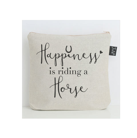 Happiness is riding a horse washbag