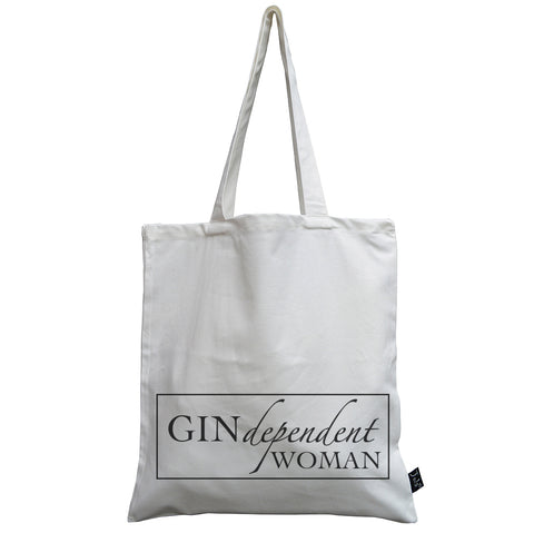 Gin dependant Woman canvas bag