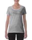 Cotton T shirt Gin Dependent woman