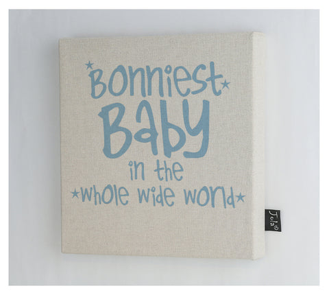 Bonniest Baby canvas frame