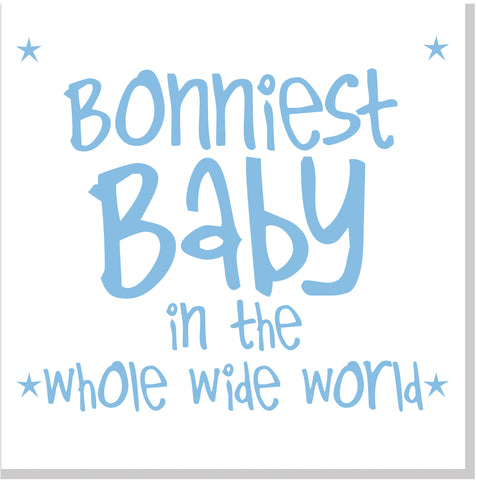 Bonniest Baby square card