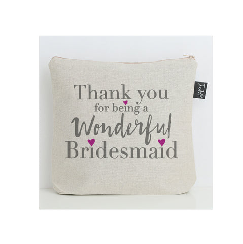 Thank you bridesmaid washbag