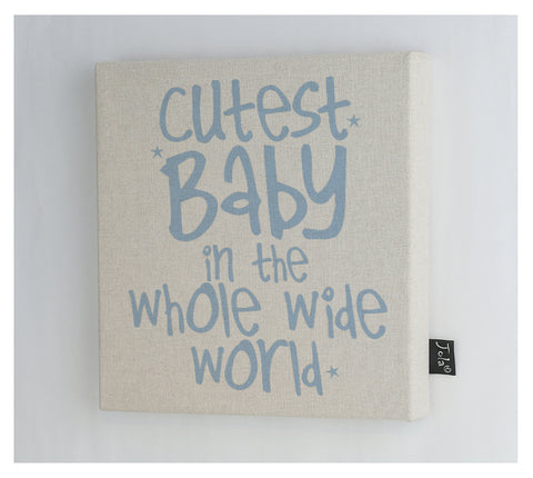 Cutest Baby canvas frame