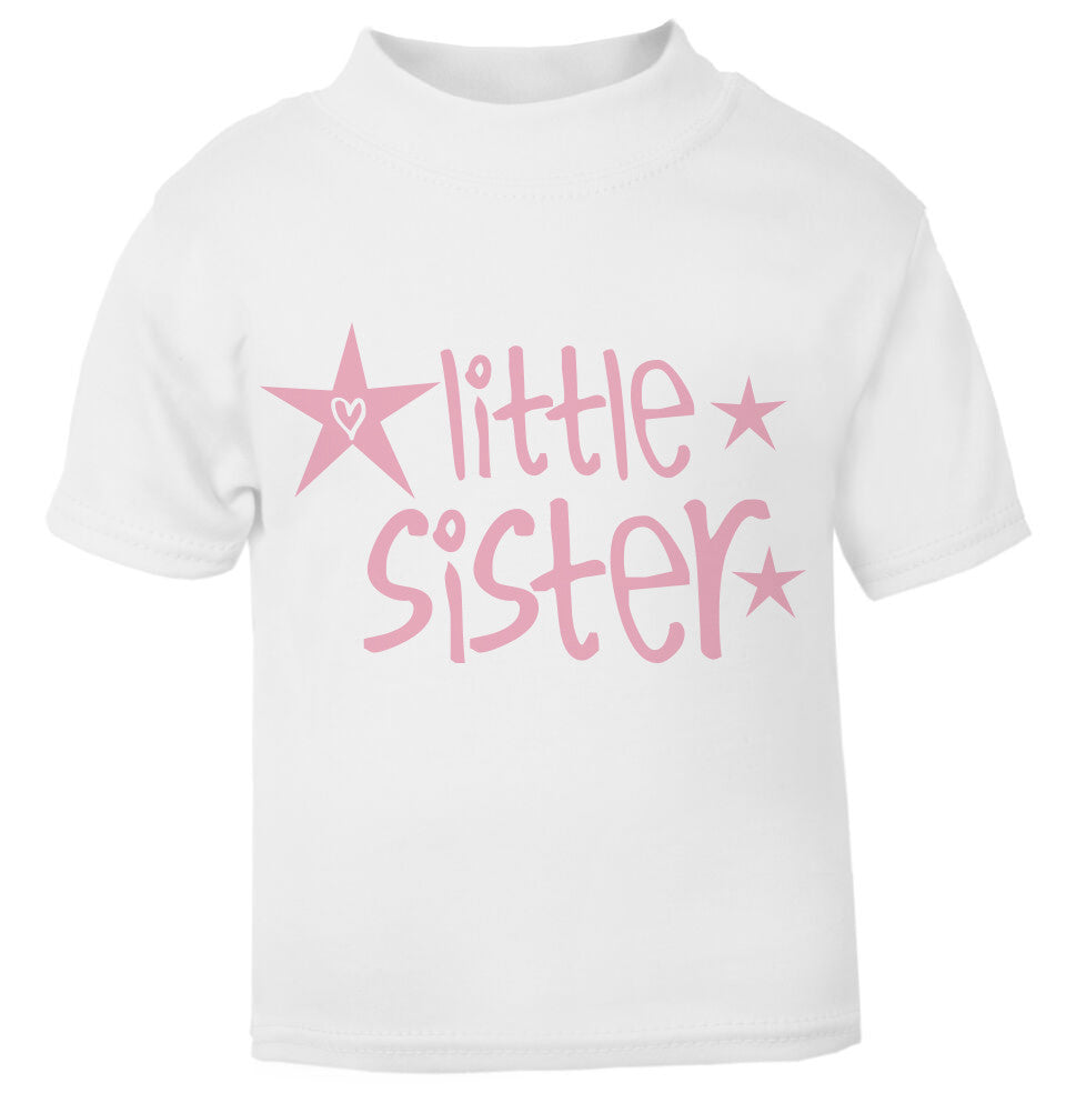 Little Sister Star Toddler T Shirt pink