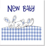 Gingham bunnies square card