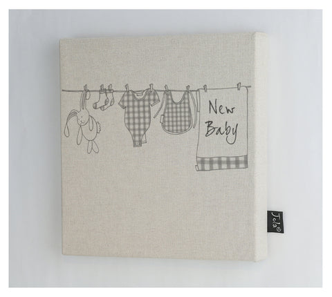 Washing Line baby canvas frame