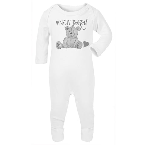 New Baby Teddy Bear Babygrow