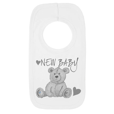 New Baby Teddy Bear Bib