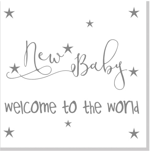 Welcome to the world baby square card