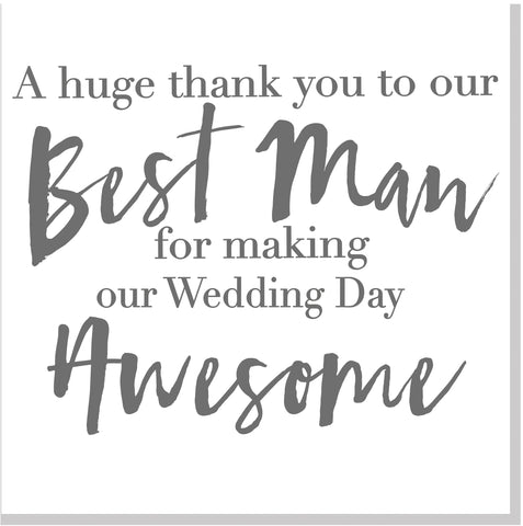 Awesome best man square card