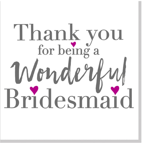 Thank you for being my bridesmaid square card