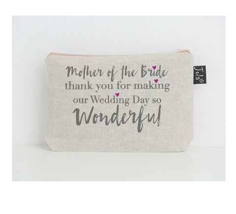 Mother of the bride small make up bag