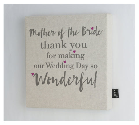 Mother of the bride Canvas frame