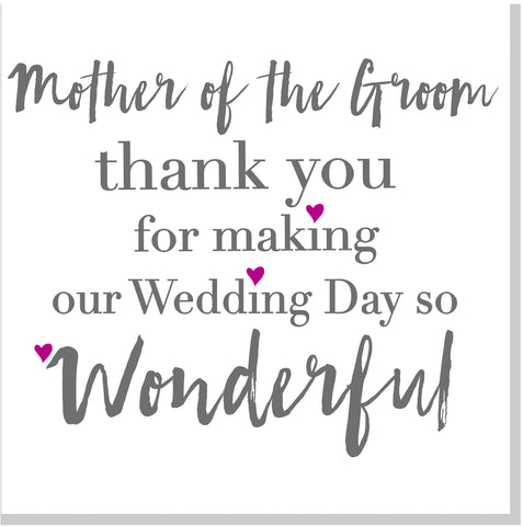 Mother of the groom square card
