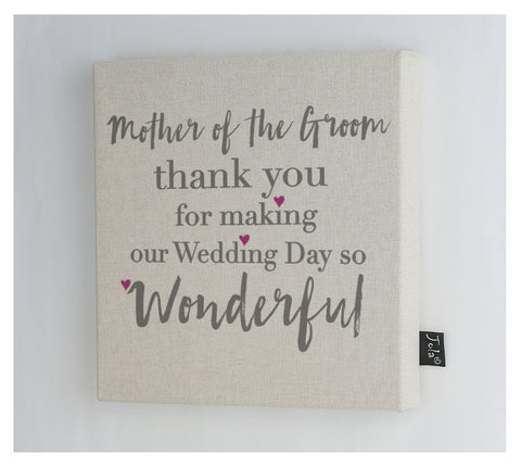 Mother of the groom Canvas frame