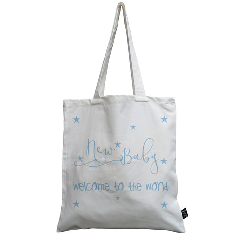 Welcome to the world Baby canvas bag