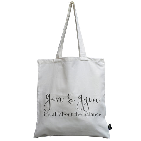 Gin or Gym canvas bag