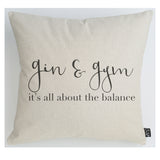 Gin & Gym cushion