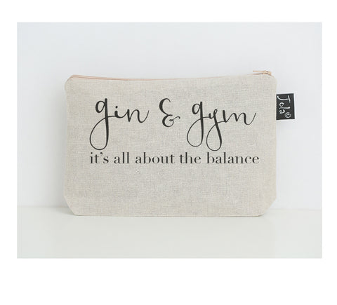 Gin & Gym small make up bag