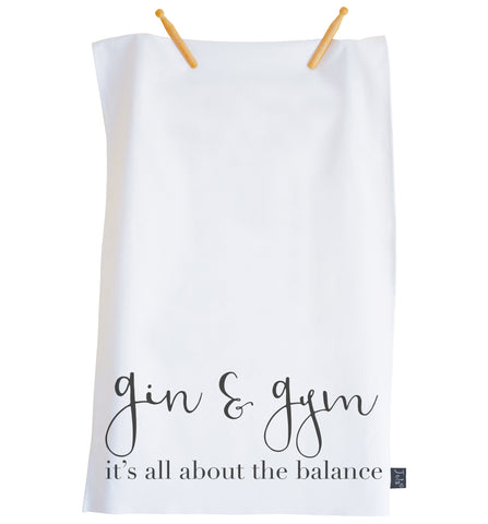 Gin & Gym Tea towel