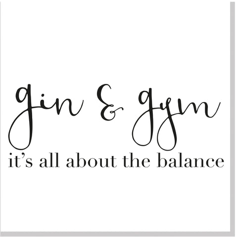 Gin & Gym square card