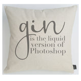Gin photoshop cushion