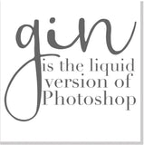 Gin Photoshop square card