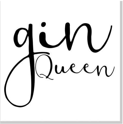 Gin Queen square card