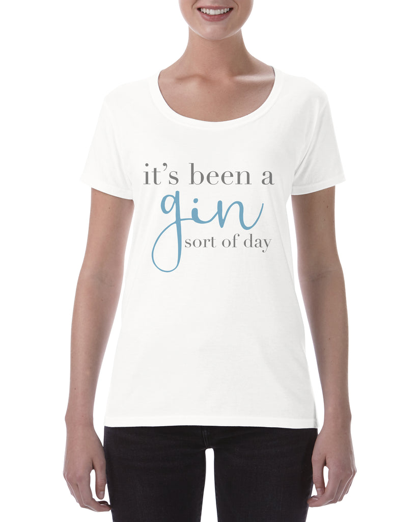Cotton T Shirt Gin Sort of Day