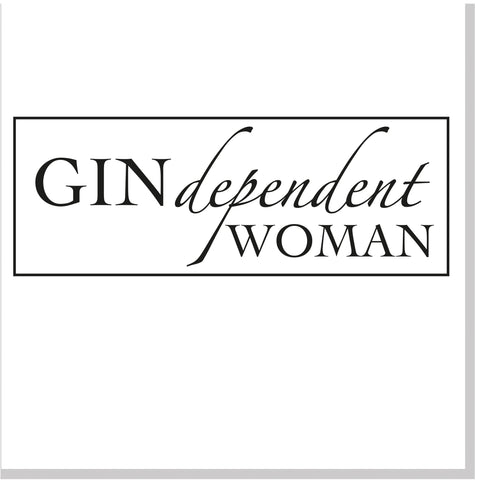 Gindependent woman square card