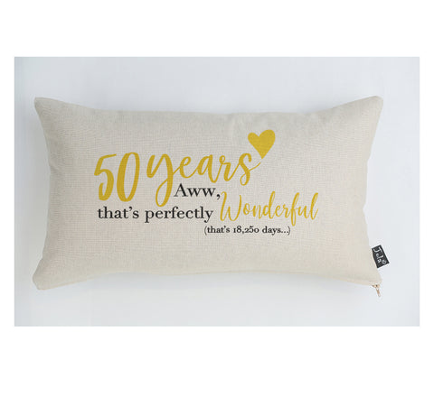 50 years Anniversary Cushion