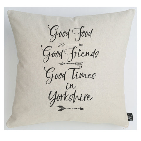 Personalised Good Food, Good Friends cushion