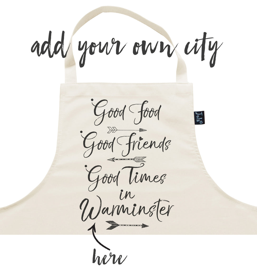 Personalised City Good Food Apron