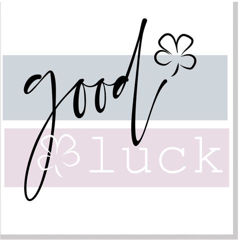 Good Luck pastel square card