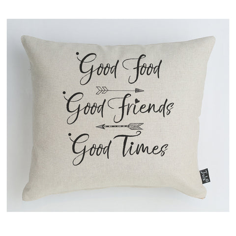 Good Food, Good Friends cushion