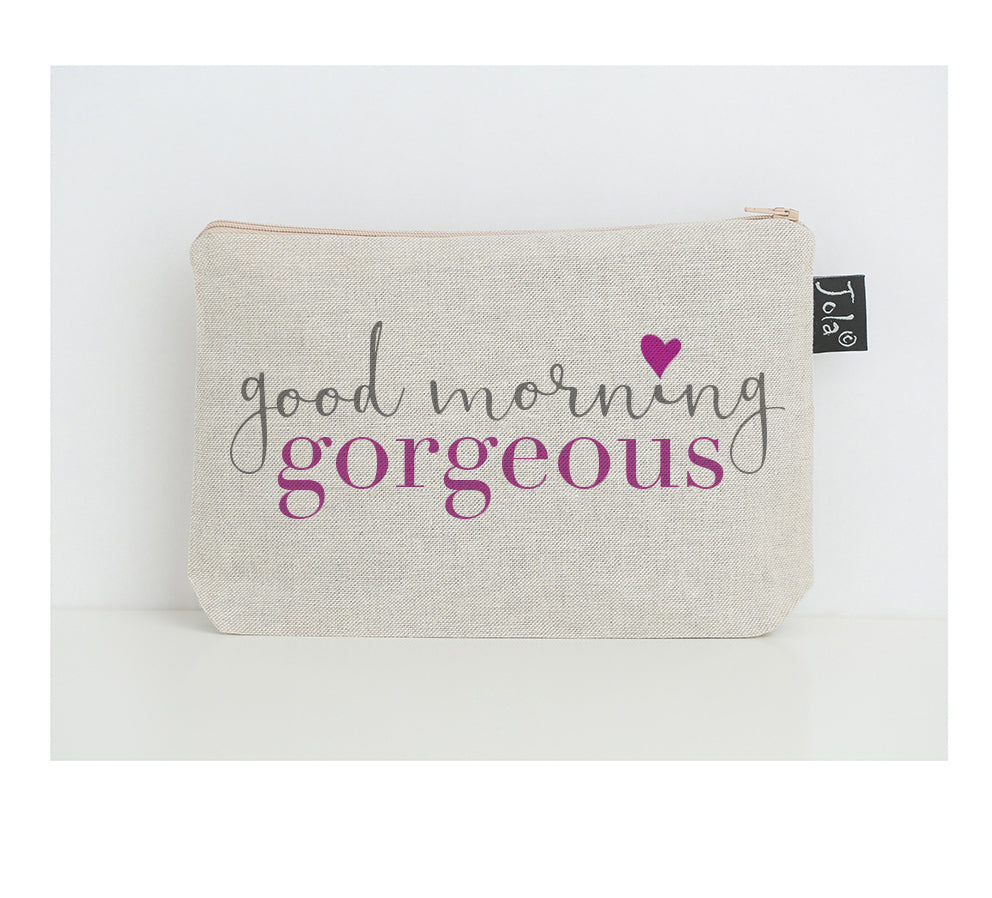 Good morning Gorgeous small make up bag pink heart