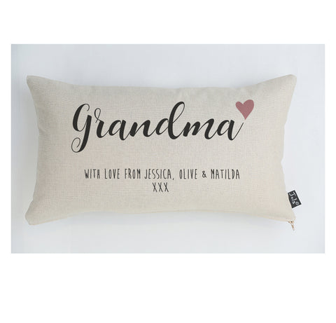 Personalised Grandma with love Cushion