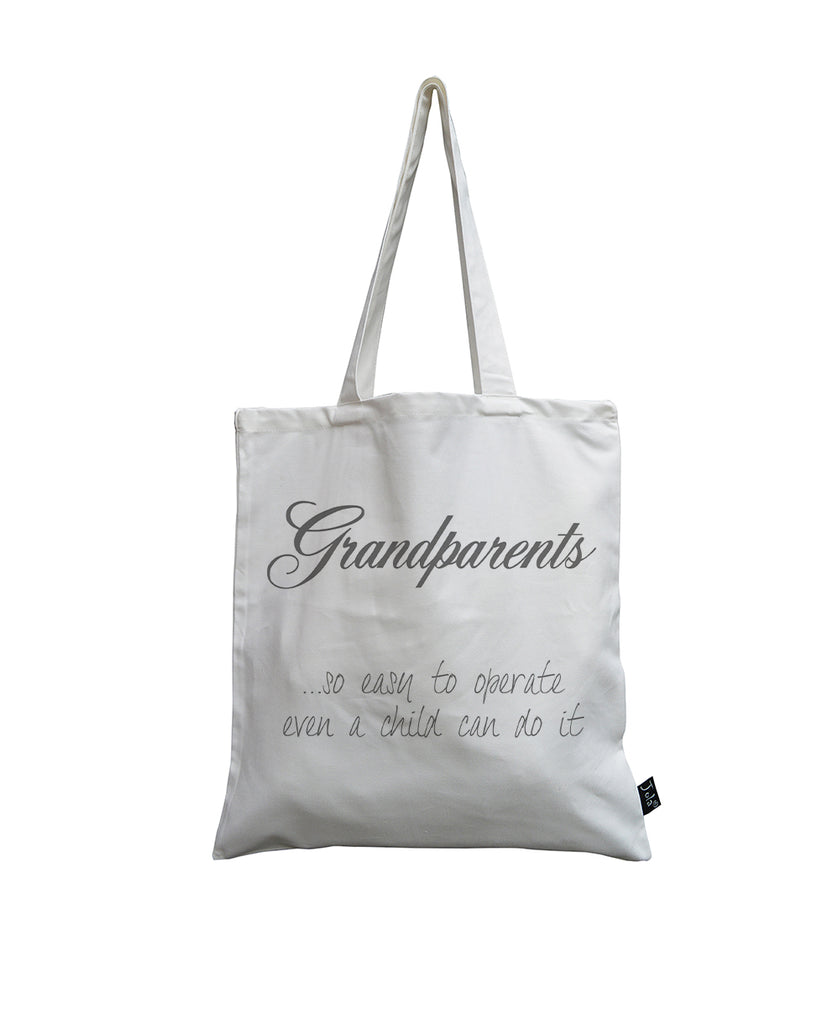 Grandparents White canvas bag