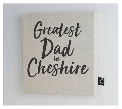 Personalised Greatest Dad City Canvas Frame
