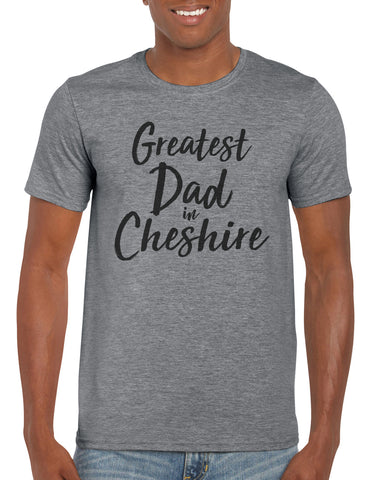 Personalised Cotton T Shirt Greatest Dad City