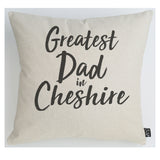 Personalised Greatest Dad City  cushion