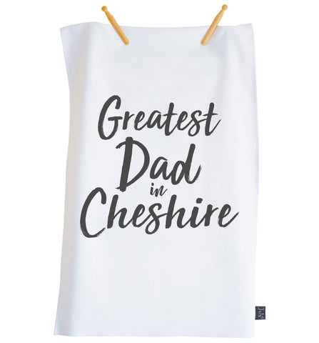Personalised Greatest Dad City Tea Towel