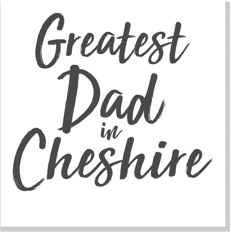 Personalised Greatest Dad City square card