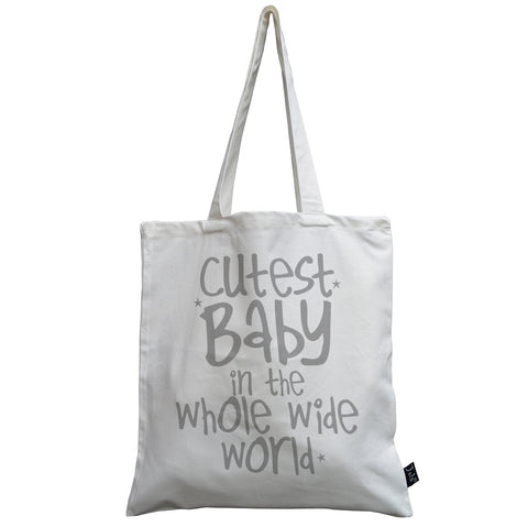 Personalised Cutest Baby canvas bag
