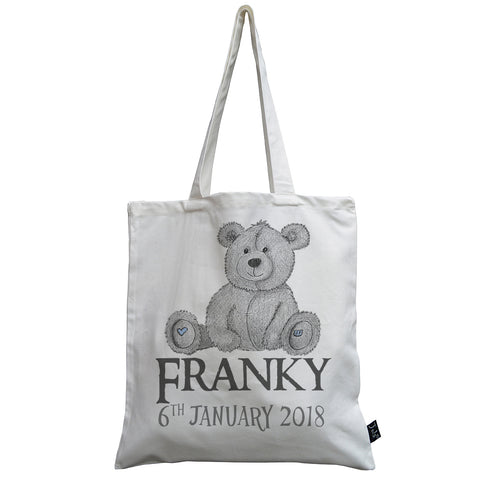 Personalised Baby Bear canvas bag